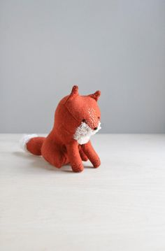 RESERVED / little red fox / soft sculpture animal. $78.00, via Etsy.