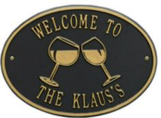 Personalized Wine Glass Bar Plaque Available now at the best price only at www.everythingnautical.com  #Nautical #Home #Decor #Gifts