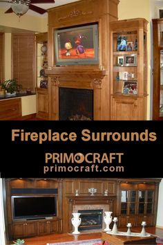 Handcrafted quality home entertainment furniture is our specialty! choose any configuration or layout for your Entertainment Center Wall Unit, Entertainment Room, Custom Fireplace, Tv Fireplace, Home Entertainment Furniture, Flat Panel Tv, Cabinet Makeover, Fireplace Surrounds, Updated Kitchen