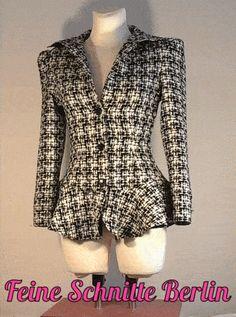 Repro/Retro Chanel style jacket, 1940s, pure wool, bespoke tailoring. Damen-Jacke im Stil von Chanel, 1940, Vierziger Jahre, Schurwolle, Maß-Anfertigung. www.feineschnitte.berlin