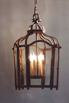 C36 Four Light Lantern Chandelier Laura Lee Design