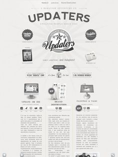 Retro.  Imitates the styling of a newspaper without being too cute or cluttered.  #web
