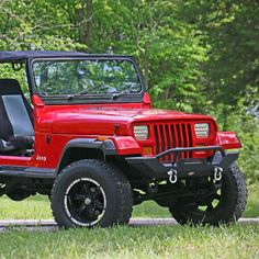 Tuff Stuff™ Rock Crawler Front Bumper With Winch Mount For 1987-2006 Jeep Wrangler TJ/YJ - Our Tuff Stuff Bumper is available in Textured Black for 87-06 Jeep Wrangler YJ, TJ & Unlimited.