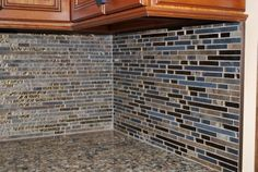 Backsplash for kitchen  Emperador Dark GF31 Glass Tile