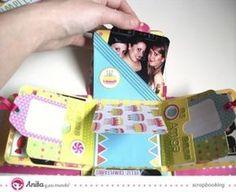 Caja explosiva decorada con papel de scrapbooking 5