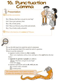 Grade 3 Grammar Lesson 16 Punctuation – comma (1)