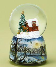 Another great find on #zulily! Snow Scene Musical Water Globe #zulilyfinds