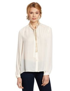 Vince Camuto Women's Embellished Neck Tie Blouse Vince Camuto. $129.00. Embellished tie. Machine Wash. polyester. Made in China. Button front blouse