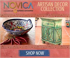 Novica Home Decor, Jewelry and Gifts & 100 Gift Card Giveaway