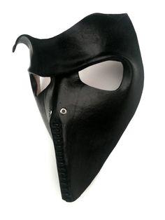 Death Squad 4 Leather Mask. $75.00, via Etsy.