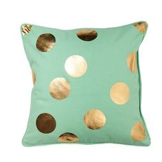 General Eclectic Cushion (Mint & Gold)