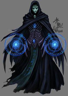 My first illustration for Fantasy Flight Game (Rune Age) [link] A Necromancer leads a group of skeletons into battle Necromancer, FFG Evil Wizard, Dark Wizard, Fantasy Inspiration, Character Design Inspiration, Dark Fantasy, Fantasy Wizard, Fantasy Kunst, Magic Art, Fantasy Artwork