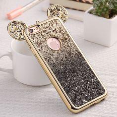 Kisscase phone cases für iphone 5 5 s 6 6 s 6 plus 7 7 plus fashion 3d mickey maus abdeckung case für samsung s6 s6 edge s7 s7 edge