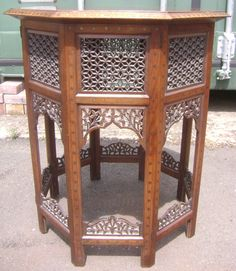ANTIQUE INDIAN BRASS,COPPER & EBONY INLAID OCCASIONAL TABLE circa 1890-1900 | eBay