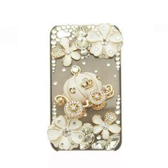 Handmade hard case for Samsung Galaxy Note: Bling pumpkin car with flowers (customized are welcome). $24.99, via Etsy.