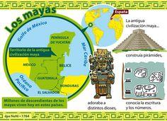 """""""¡Qué interesante!"""" Mapa del territorio maya."""