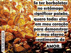 #amor #paixão #borboletas #coração