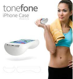 「ToneFone」iPhone 5/5s電話殼設計如啞鈴般,分別有1kg及1.5kg兩款,讓你利用手提隨時做運動,拜拜肉從此消失!