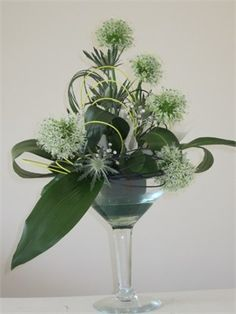 Table centre piece to be placed in larger version martini vases.