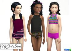 Sims 4 CC's - The Best: Childrens Swimsuit by NyGirl