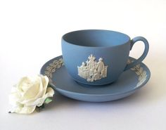 Decorate your house like Downton Abbey with tea sets like this one from Etsy!
