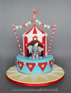 Circus Birthday Cakes Dumbo Circus Christening Cake Cakes Natalie Porter To DoYou can find Circus cakes and more on our website. Dumbo Birthday Party, Carnival Birthday Parties, Themed Birthday Cakes, Circus Birthday, Happy Birthday Cakes, Themed Cakes, First Birthday Parties, 20th Birthday, Special Birthday