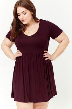 Plus Size Shirred Dress