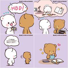 Love Cartoon Couple, Cute Couple Comics, Cute Comics, Cute Love Pictures, Cute Love Gif, You Are My Moon, Anime Sisters, Hug Gif, Cute Bear Drawings