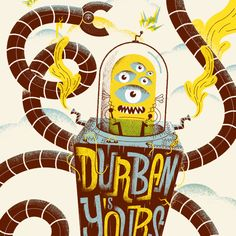 DURBAN IS YOUR   ILLUSTRATION on Behance