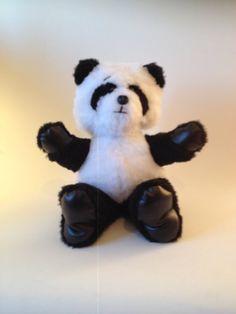 WEEBEE Bear  Handmade Panda Plush in black and par KarPatCreations