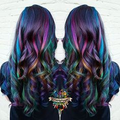 Top 40 Opal oil slick hair color 2018 – Reny styles - New Sites Oil Slick Hair Color, Cool Hair Color, Hair Colors, Peacock Hair Color, Galaxy Hair Color, Galaxy Colors, Hair Color 2018, Hair 2018, Arctic Fox Hair Color