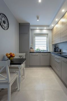 surprising small kitchen design ideas and decor 1 « A Virtual Zone Narrow Kitchen, Modern Kitchen Cabinets, Ikea Kitchen, Kitchen Furniture, Kitchen Dining, Kitchen Decor, Kitchen Ideas, Kitchen Walls, Cuisines Design