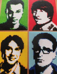 Perler Bead Portrait Collection BIG BANG THEORY by MostFavoriteAunt
