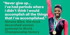 Simone Biles is more accomplished and poised at 19 than most of us will be in a lifetime. And she's cute add a button. USA! USA!