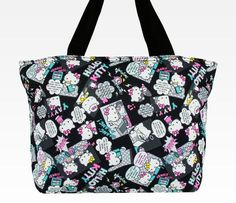 Hello Kitty Padded Tote Bag: Pop Art Black