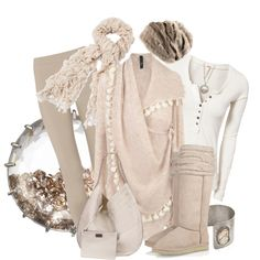 The neutral version of winter whites.  So cozy casual.  Great plane outfit to head to colder weather.