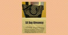 Enter to Win a Louis Vuitton Bag from Sweepstakes Advantage! http://woobox.com/aooszt/j07x0m