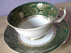 Antique bone china tea cup and saucer vintage by ShoponSherman, $49.00