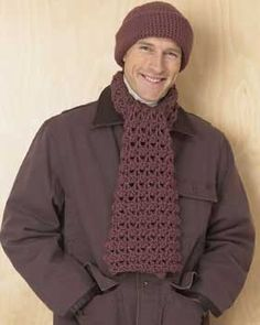 Free Softee Chunky - Men's Hat and Scarf Set Crochet Pattern.
