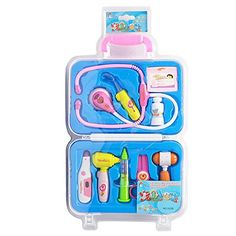 iHomeandiLife Doctor Pretend Play Nurse Medical Kit Playset Bag Medicine Box For Kids -- Details can be found by clicking on the image.
