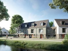 750 homes launch in the UK's 'first sustainable suburb' Green Architecture, Sustainable Architecture, Sustainable Design, Uk Housing, Energy Pictures, Homemade Generator, Council House, Sustainable Energy, Eco Friendly House