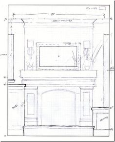 Build a faux fireplace mantle with TV mount above.