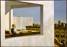 """Edward Hopper (American, New York 1882–1967). Office in a Small City, 1953. The Metropolitan Museum of Art, New York. George A. Hearn Fund, 1953 (53.183) 