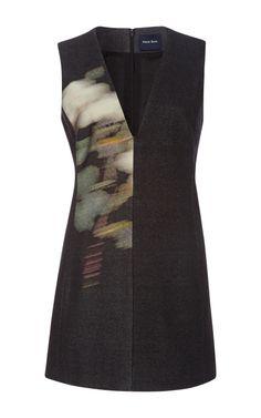 Shop Mega Rose Wool Sleeveless Tunic by Peter Som for Preorder on Moda Operandi