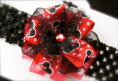 Minnie Mouse Inspired Headband by ManaiaBabyDesigns on Etsy, $6.50