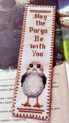 Thrilling Designing Your Own Cross Stitch Embroidery Patterns Ideas. Exhilarating Designing Your Own Cross Stitch Embroidery Patterns Ideas. Learn Embroidery, Hand Embroidery Patterns, Cross Stitch Embroidery, Embroidery Designs, Cross Stitch Bird, Cross Stitch Designs, Cross Stitch Patterns, Star Wars, Cross Stitch Bookmarks