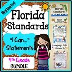 """Florida Standards - 4th Grade Bundle - Save a ton of time by buying our FULL PAGE SIZE pre-made Florida Standards Illustrated """"I Can"""" Statements fo..."""