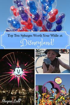 Top ten splurges worth your while at Disneyland! Disney Destinations, Walt Disney World Vacations, Family Vacation Destinations, Disney Trips, Disney Travel, Disneyland California Adventure, Disneyland Trip, Best Family Vacations, Family Travel