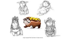 Rio Characters Concept Art by San Jun Lee