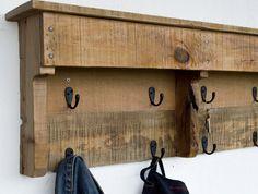 Entryway Coat Hooks Reclaimed Wood Coat Rack by byDadandDaughter
